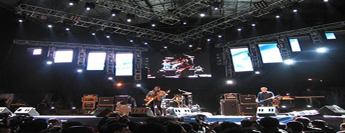 Presentacion de una banda en el festival de Rock al Parque