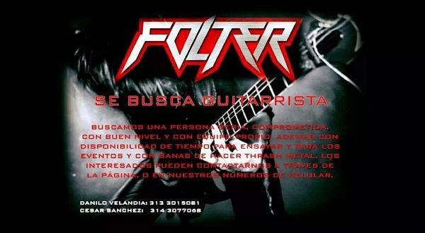 Clasificado Folter Busca Guitarrista|Clasificados.