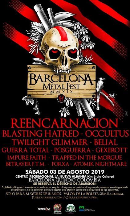 Evento Barcelona Metal Fest 2019 Km 6 Via Calarca|Conciertos, Festivales.