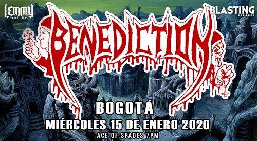 Evento Benediction En Colombia 2020|Conciertos, Festivales.