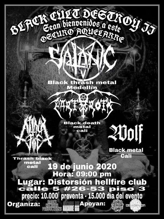 Evento Black Metal Cult 2 Conciertos, Festivales.