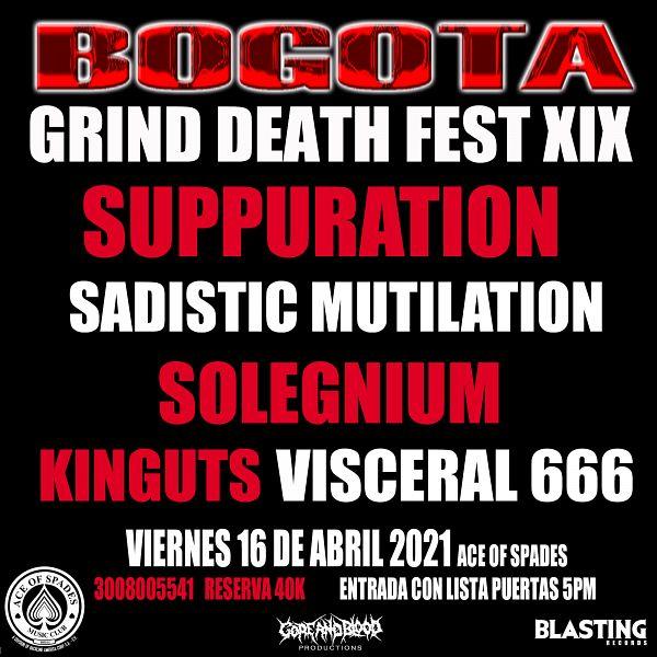 Evento Bogota Grind Death Fest Xix|Conciertos, Festivales.