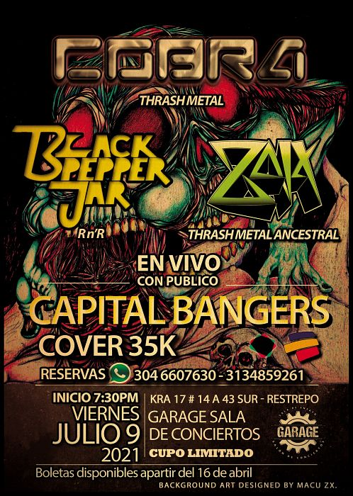 Evento Capital Bangers Vol 1|Conciertos, Festivales.
