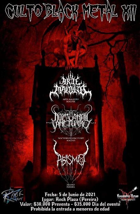 Evento Culto Black Metal 12 Conciertos, Festivales.