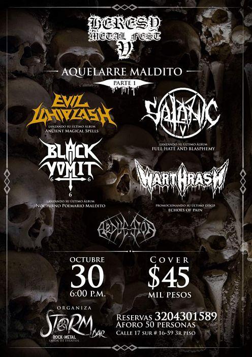 Evento Heresy Metal Fest 5 Conciertos, Festivales.