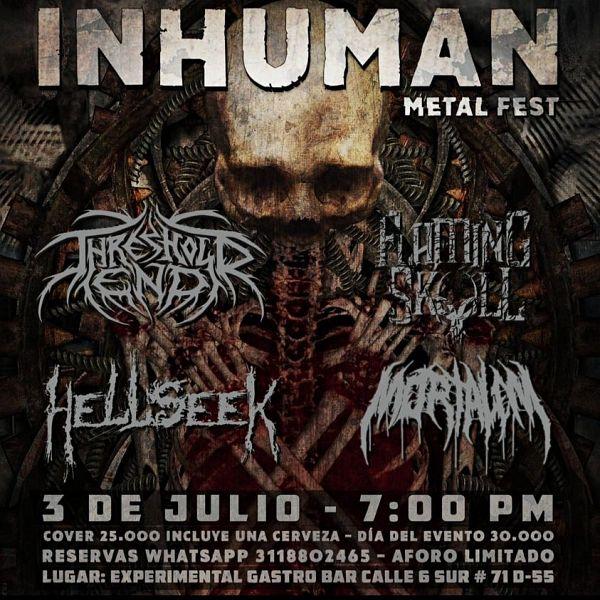 Evento Inhuman Metal Fest|Conciertos, Festivales.