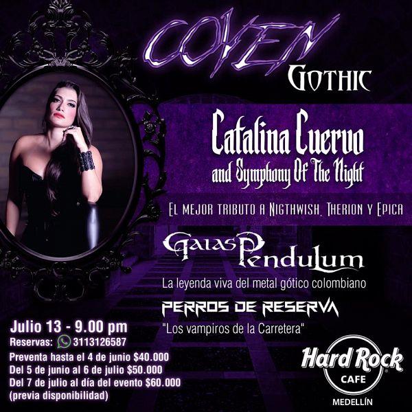Evento Concierto Coven Gothic Con Catalina Cuervo Gaias Pendulum Hard Rock Cafe|Conciertos, Festivales.