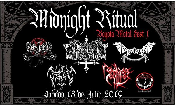 Evento Fusil Command Production Midnight Ritual Bogota Metal Fest 1|Conciertos, Festivales.