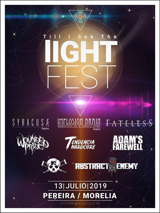 Evento Till I See The Light Fest Implosion Brain Syracusae Fateless|Conciertos, Festivales.