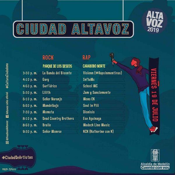 Evento Festival Altavoz 2019 Programacion|Conciertos, Festivales.