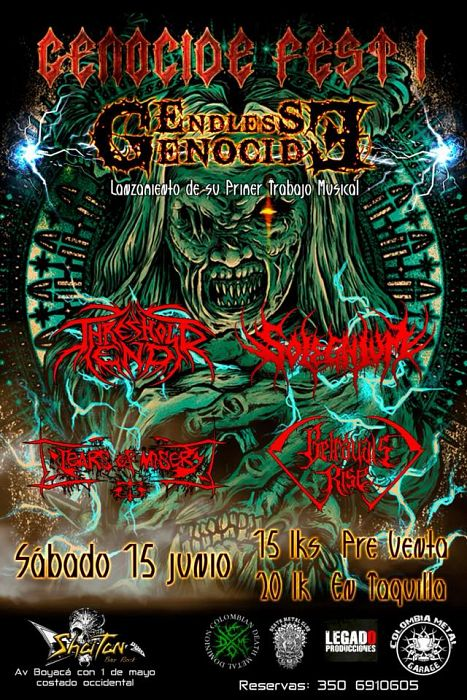 Evento Genocide Fest 1 Lanzamiento Disco De Endless Genocide Conciertos, Festivales.