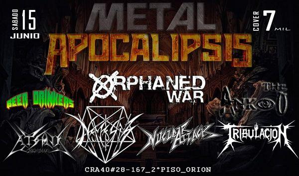 Evento Metal Apocalipsis En Orion Snack Bar|Conciertos, Festivales.