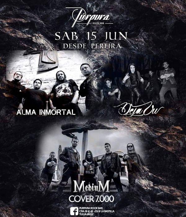 Evento Poder Heavy Metal En Purpura Rock Bar|Conciertos, Festivales.
