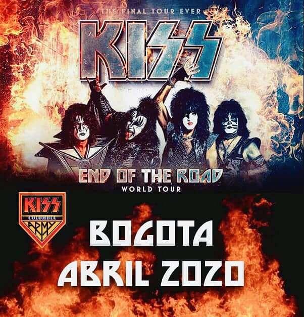 Evento Kiss En Colombia 2021|Conciertos, Festivales.
