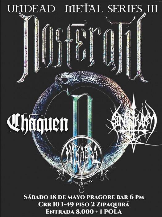 Evento Undead Metal Series 3 Nosferatu Chaquen Makabra|Conciertos, Festivales.