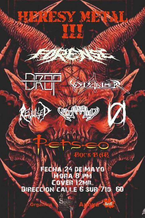 Evento Heresy Metal 3 Fest En Perseo Bar Forense|Conciertos, Festivales.