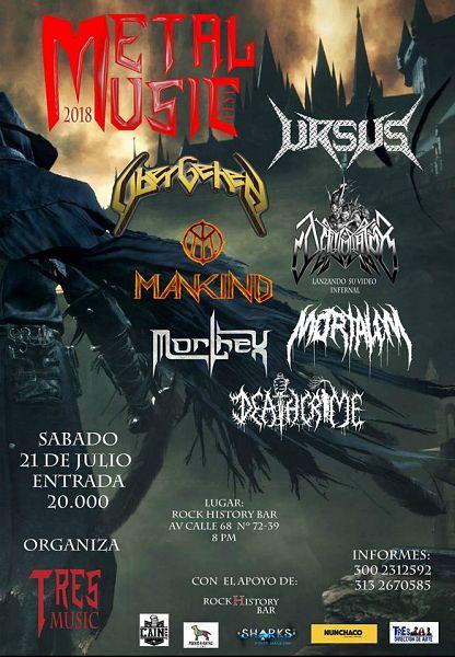 Evento Metal Music Fest, Bandas Colombianas