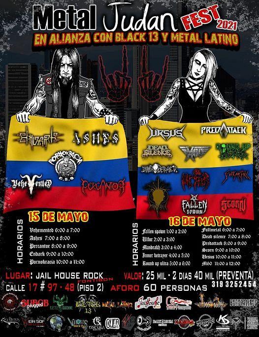 Evento Metal Judan Fest Dia 2|Conciertos, Festivales.