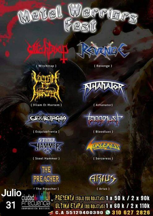 Evento Metal Warriors Fest|Conciertos, Festivales.