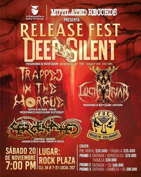Evento Mutilated Records Presenta Release Fest|Conciertos, Festivales.