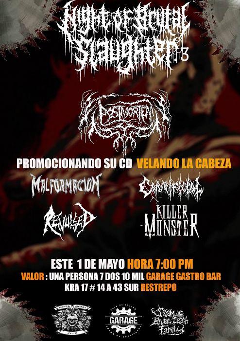 Evento Noche Brutal Slaughter 3|Conciertos, Festivales.