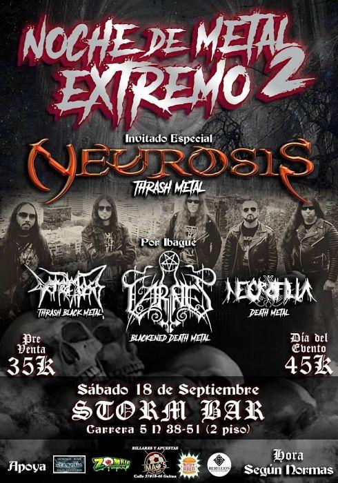 Evento Noche De Metal Extremo 2|Conciertos, Festivales.