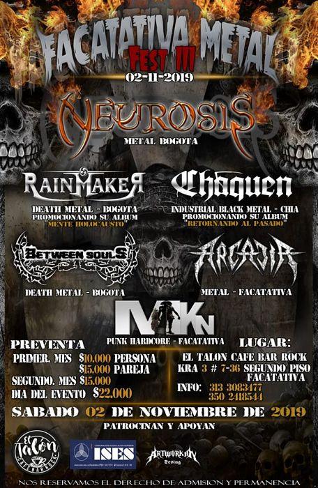 Evento Facatativa Metal Fest 3|Conciertos, Festivales.