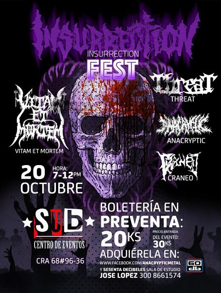 Evento Insurrection Fest, Bandas Colombianas