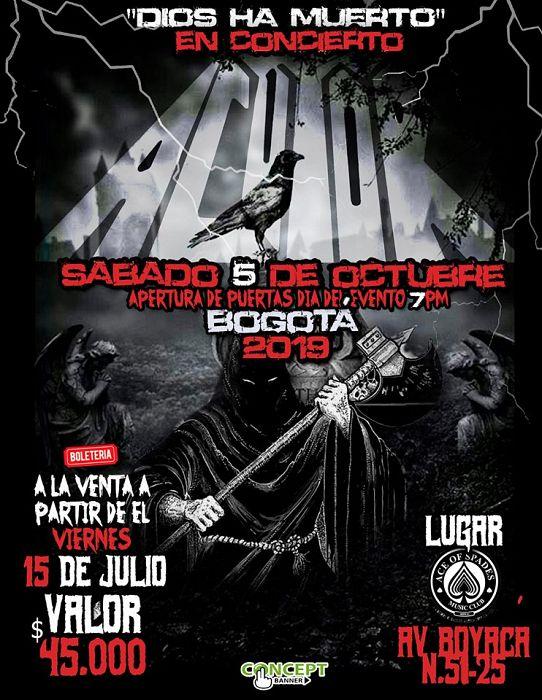 Evento Acutor Dios Ha Muerto En Concierto|Conciertos, Festivales.