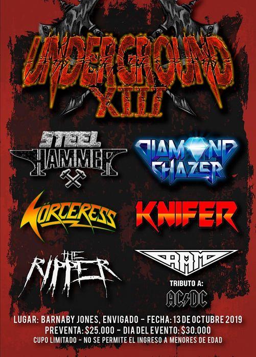 Evento Underground Metal 13 De Octubre|Conciertos, Festivales.