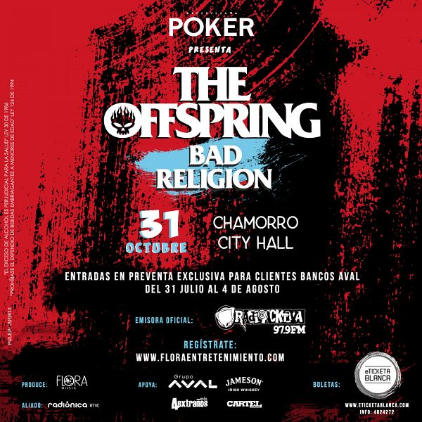 Evento The Offspring Y Bad Religion En Colombia|Conciertos, Festivales.