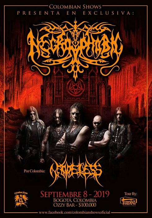 Evento Colombian Shows Presenta A Necrophobic En Ozzy Bar|Conciertos, Festivales.