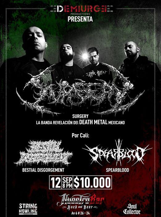 Evento Concierto De Surgery De Mexico|Conciertos, Festivales.