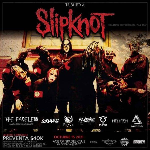Evento Slipknot Tributo A Joey Jordison Y Paul Gray Conciertos, Festivales.