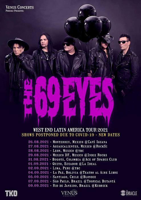 Evento The 69 Eyes En Colombia|Conciertos, Festivales.