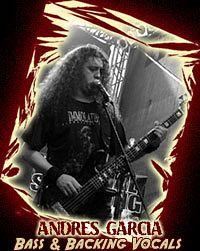 Andres Garcia - Internal Suffering, Músicos Metaleros y Rockeros